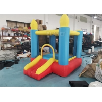 Buy cheap 2m Mini Nylon Fabric Inflatable Bounce House Inflatable Small Jumping Castle With Blower Prices For Family product