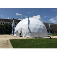 China Outdoor Activities Geodesic Dome Tent 35m Diameter Waterproof / Fireproof on sale