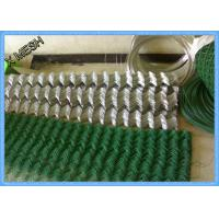 """PVC Coated 2""""x2"""" Steel Chain Link Fence1.8 X 15 Meters For Road Fencing"""