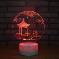 Buy cheap new special gift item  Crackle base 3D acrylic led small night light, small led table lamp  with 7 colors from wholesalers