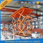 Buy cheap 10T 8M Double Scissors Hydraulic Lift Hydraulic Large Scissor Cargo Lift CE SGS product