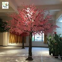 Buy cheap UVG event and wedding indoor artificial trees with cherry blossom fake flowers from wholesalers