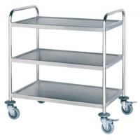Buy cheap Laboratory Furniture Stainless Steel Delivery Cart / Steel Lab Trolley New Designed product