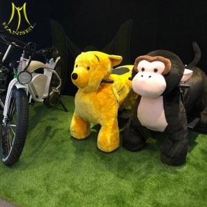 China Hansel animal game plush motorized animals plush walking horse rides on sale