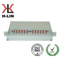 Buy cheap 1U Metal Ftth Telecommunication Fiber Optic Distribution Box Frame Easy Operation product