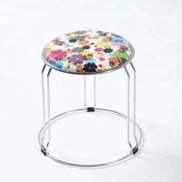 Buy cheap Plastic / Cloth / PU Dining Chairs With Abrasion Resistant Stainless Steel Frame product