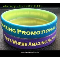 Buy cheap Factory designed printing color wristbands custom wholesale silicone wristbands from wholesalers