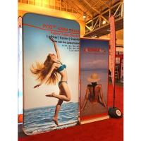 Buy cheap Tension Fabric Banner stands , Fabric tube display Aluminium Material product