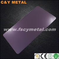 China High end stainless steel sheet with sand-blast with violet colors on sale