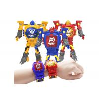 Buy cheap Children's Transformer Toys Digital Deformation Robot Watch With Adjustable Time product
