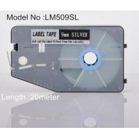 Buy cheap 9mm silver Label Maker Tape 20M commercial for cable identification product