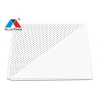 Buy cheap Airport Suspended Lay In Ceiling Panels Custom / Perforated Metal Ceiling Tiles product