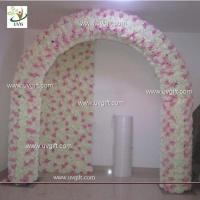 Buy cheap UVG 2.5 meters artificial rose and hydrangea wedding arch in silk flower head from wholesalers