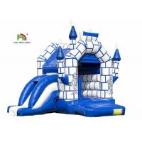 Buy cheap Blue 0.55mm PVC Tarpaulin Kids Inflatable Jumping Castle With Slide from wholesalers