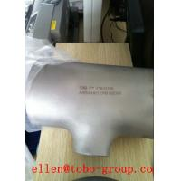 Buy cheap ASTM A 815 & ASME SA815 WPS32550 reducing tee thickness SCH 5S~XXS product