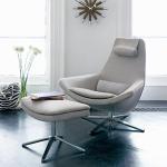 Buy cheap Metropolitan Fiberglass Lounge Chair Swivel High Back Customized Colors product