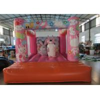 Buy cheap Custom Made Inflatable Small bouncer Pink inflatable rabbit Jump house on sale product