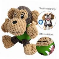 Buy cheap Durable Monkey Shaped Plush Pet Toys , Squeaky Dog Toys For Aggressive Chewers product