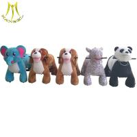 China Hansel plush animal petting zoo kids riding horse toy for sale on sale