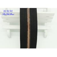 Buy cheap Custom Normal Teeth Long Chain Zipper In Roll Black Polyester Tape For Pants product