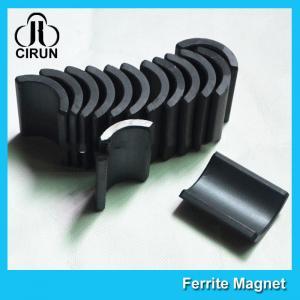 Buy cheap Y30 Grade Ferite Arc Magnets For Motors , Ferite Ceramic Motor Arc Magnets product
