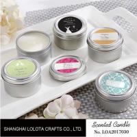 Buy cheap Chemical Free Scented Luxury Soy Candles , Personalised Tin Candles For Bathroom product