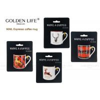 Buy cheap D5.2xH5.4cm Size Espresso Coffee Mugs 90mL Capacity Merry Christmas / Deer from wholesalers