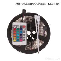 Buy cheap Non-Waterproof 5M/roll 300 LEDs RGB SMD 5050 Flexible led Strip Light with 24Keys IR Remote from wholesalers