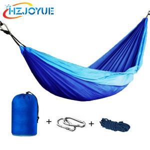 China Double Portable lightweight Parachute Nylon Fabric Camping Hammock on sale