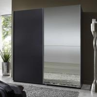 Buy cheap Elegant High Gloss Bedroom Furniture With Half Mirror Soft Sliding Door Wardrobe product