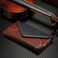 Contrast Color IPhone Leather Wallet Case Envelope Style No Scratch 96.3g