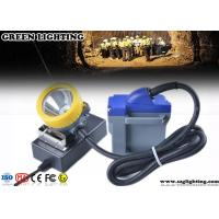 Buy cheap 15000 Lux LED Miners Lights For Hard Hats , 6600mAH Cord Safety Hard Hat Lights product