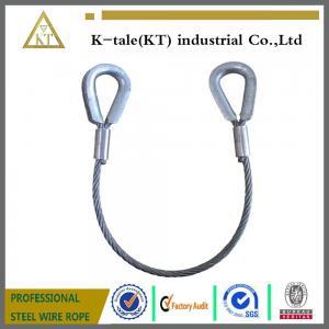 China 1 Tonne Wire Rope Sling ( Large Thimble Eyes ) on sale