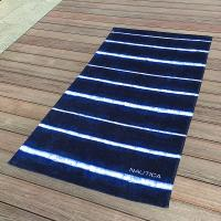 Buy cheap Soft Promotional Mens Beach Towel / Striped Beach Towels Blue And White product