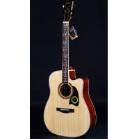 Buy cheap New Flower Carved Fingerboard 41-inch Cut Away Spruce Acoustic Guitar from wholesalers