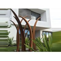 Buy cheap Residential Garden Landscape Corten Steel Sculpture Reed Design Corrosion Stability product