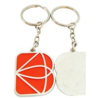 Buy cheap One Side Logo Custom Shaped Keychains , Square / Rectangle Metal Stamped Keychain product