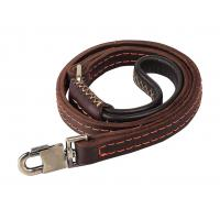 Buy cheap Full Grain Handmade Dog Leather Leashes , 4ft Padded Pet Collar Leather product
