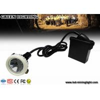 Quality 10000lux High Brightness LED Mining Headlamp , 3.7V 6.6Ah Underground Cap Lamps for sale