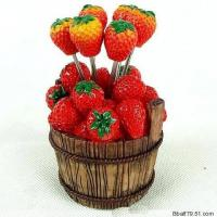 China fruit fork, resin crafts,gifts on sale