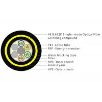 Buy cheap Aramid Yarn ADSS Fiber Cable With Double HDPE Sheath Water Blocking Tape product