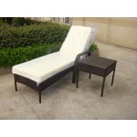 Buy cheap Outdoor Pool side Sun Lounge Daybed Set Poly Rattan Furniture Cushion Cover product