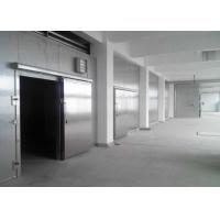 China Auto Type Cold Storage Sliding Doors 100mm Thickness For Cold Room / Single Leaf on sale