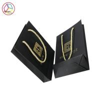 Eco Friendly Black Paper Shopping Bags Recyclable Feature Eco - Friendly