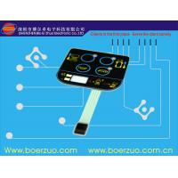 LED Embedded Black Membrane Touch Switch For Electric Weighing
