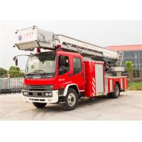 Buy cheap 5 - Speed Manual Gearbox Aerial Fire Truck , Four Door Structure Fire Engine Ladder Truck product