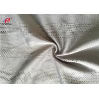 China Dry Fit Rad Color 100% Polyester Mesh Fabric Knitted For Sportswear / Chaircover on sale