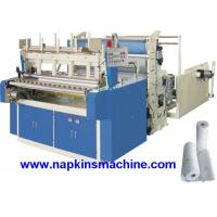 Buy cheap High Capacity 2 Layer Toilet Paper Making Machine , Roll Slitting And Rewinding Machine product