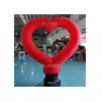 Buy cheap Wedding Decor Red Inflatable Advertising Balloon With Light product