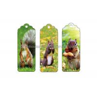 Buy cheap 0.6 PP Customizable 3D Lenticular Bookmark Personalised Bookmarks For Students product